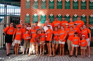 Family photo at Camden Yards, Oriole Wall of Fame